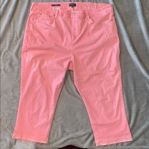 NYDJ Pink Capri Jeans